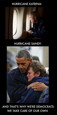 Bloomberg asked Obama not to go to NY, so he didn't. Similarily, Bush was asked not to go after Katrina - they didn't want to tie up emergency workers. So he honored their request, just as Obama did in NY. So stop the lies. Barack Obama, Liberal Politics, Hurricane Sandy, Political Views, Michelle Obama, Social Issues, Social Justice, Presidents, Humor