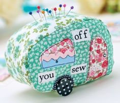 Stitched Caravan Pincushion Project
