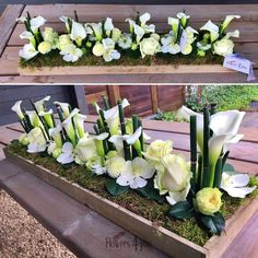 Grave Decorations, Table Decorations, Arrangements Funéraires, Funeral, Flower Art, Art Floral, Floral Wreath, Wreaths, Flowers