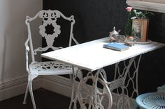 old sewing machine table for the kitchen
