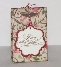 Handmade Christmas Gift Bag with Handmade Tag. $4.50, via Etsy.