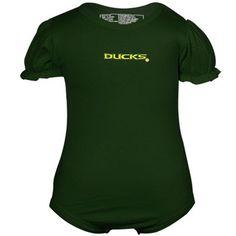 Oregon Ducks Infant Puff Sleeve Creeper - Green $19.95