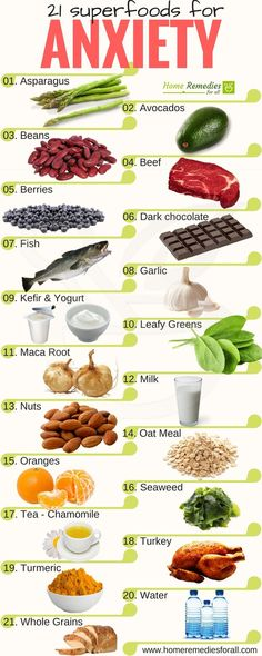 Get rid of anxiety with these 21 super foods to live stress free and stay calm.