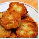 Galettes de pommes de terre avec reste de patates pilées