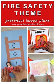 Learn about general fire safety, fire drill procedures, and more with the fire safety theme preschool activities that incorporate reading, math, science and more in this 202-page preschool fire safety theme lesson plan set. Perfect for Fire Safety Week activities. Preschool Lesson Plans, Preschool Classroom, Fire Drill Procedures, Letter F Craft, Fire Safety Week, Daily Lesson Plan, Cue Cards, Pre Writing, Preschool Activities