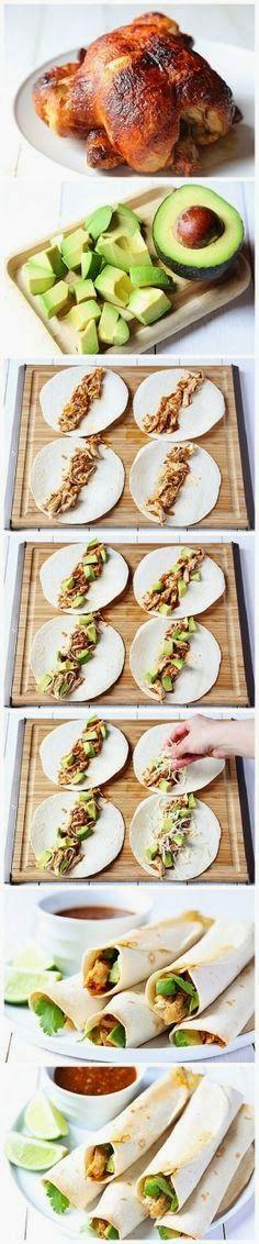 Chicken and Avocado Taquitos | A 1 Nice Blog