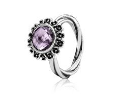 Ring, Sterling-Silber, amethist