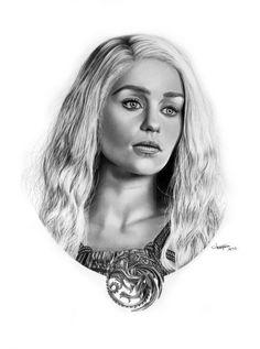 Daenerys Targaryen by https://mutemouia.deviantart.com on @DeviantArt Game Of Thrones Artwork, Mother Of Dragons, Geek Out, Lotr, Nerdy Things, Comic Art, Daenerys Targaryen, Game Of Thrones, Faces