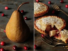 Pear and Cranberry Individual Pies