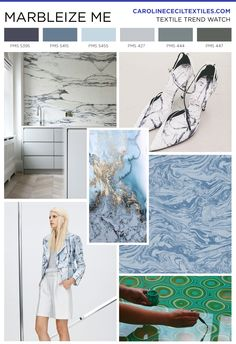 #carolinececiltextiles trend inspiration. Marble | Marbling | Textiles | Fashion | Mood Board | Pattern | Textile Trend | Interior Design | Interiors | Interior Color Trends | SS16 | FW16 | SS17 | AW17 | FW17 | spring summer 2016 | autumn winter 2016 | textile design | color trend | megatrends |