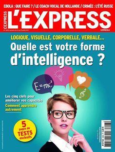 L'Express du 13 août 2014: Dossier Intelligence Témoignage Intelligences Multiples et cartes heuristiques