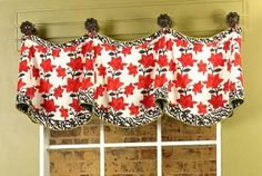 I want to make a similar window valance for our guest bathroom in different fabric and trim.