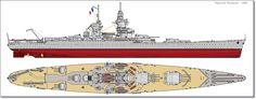 French Battleship Richelieu 1940