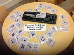 Keyboard matching game at KU Bradmore Road