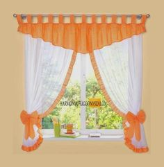 Cute Curtains, Elegant Curtains, Crochet Curtains, Beautiful Curtains, Country Curtains, Drapes Curtains, Valances, Window Curtain Designs, Valance Patterns