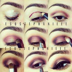 purple gold makeup tutorial