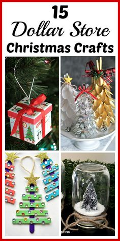 15 Dollar Store Christmas Crafts- You can decorate your home for Christmas even if you're on a tight budget! Check out these 15 frugal dollar store Christmas crafts! | Christmas crafts, DIY home decor, dollar store crafts, #Christmas #DIY #craft #dollarStore
