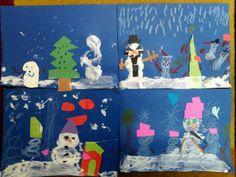 First Grade Fingerprints: Snowmen at Christmas!!!