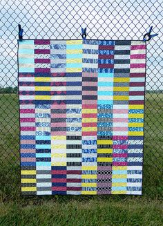Rugby Stripe Quilt | Flickr - Photo Sharing!