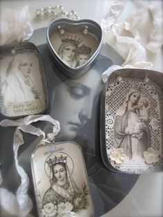 Petite Michelle Louise: Mary in Tin Boxes Craft. Could have kids do simpler versions. Catholic Craft. Christian Craft. Sunday School Craft.