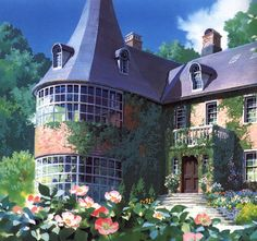 Scene from Kiki, such beautiful artwork - if I can ever afford it I would build this house.