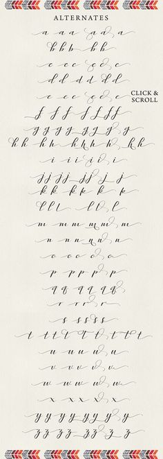Ideas For Tattoo Fonts Calligraphy Alphabet Hand Lettering Tattoo Fonts Alphabet, Hand Lettering Fonts, Calligraphy Handwriting, Creative Lettering, Typography Letters, Brush Lettering, Penmanship, Modern Calligraphy Alphabet, Script Fonts