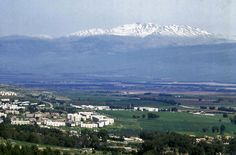 """* Monte Hermon *  """"Hula Valley"""". View from Rosh Pina, Israel."""