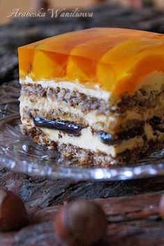 Polish Desserts, Polish Recipes, Cookie Desserts, No Bake Desserts, Hungarian Cake, Cake Recipes, Dessert Recipes, Homemade Sweets, Traditional Cakes