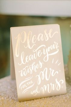 Glamorous Gold Guest Book Wedding Sign | Keely Thorne Events | Mustard Seed Photography https://www.theknot.com/marketplace/mustard-seed-photography-houston-tx-336052