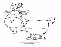 Cute Goat Billy Looks Through The Fence Coloring page  dieren