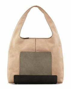 Colorblock Leather Hobo Bag, Multi by Brunello Cucinelli at Bergdorf Goodman.