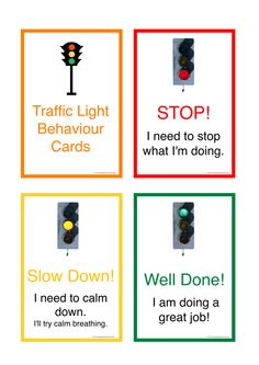 Traffic Light Behaviour Cards - First Person. Provides children with a visual representation of their behaviour at that moment in time - particularly for those with Autism. Designed to be laminated, cut out and worn around the neck of a teacher, on a lanyard. FREE Download.