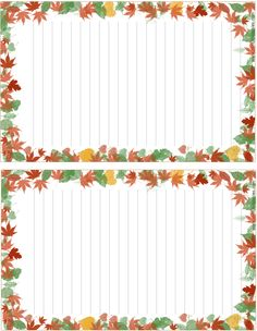 Keep in touch with family and friends by writing a letter by hand on unique Thanksgiving stationery sets. Each have matching writing paper and envelope. Printable Lined Paper, Free Printable Stationery, Stationary Set, Journal Paper, Stationery Paper, Writing Paper, Note Paper, Paper Decorations, Paper Background