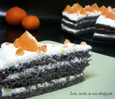 Ízek...torták...és más állatfajták: Narancsos-mákos-mascarponés torta
