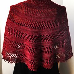 Rioja by Hilary Smith Callis, knitted by KnitsterMonika | malabrigo Sock in Tiziano Red