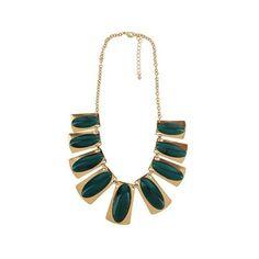 Elegant Green Gem Necklace ($30) ❤ liked on Polyvore