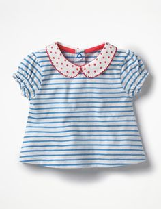 827c3ed93c6555 Sweet Collared T-shirt Y0273 Short Sleeved Tops at Boden 18 Month Girl  Clothes