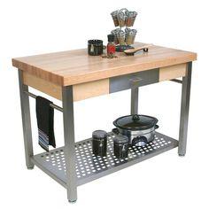 "John Boos Kitchen Work Islands - JB-CUCG ""Cucina Grande"" #kitchensource #pinterest #followerfind"