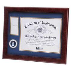 certificate medal document certificate military photo military gifts medallion certificate inch document force medallion frames military medal frame