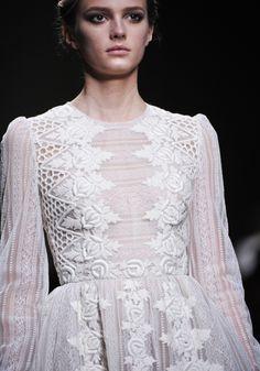 a vintage dress full of geometric details