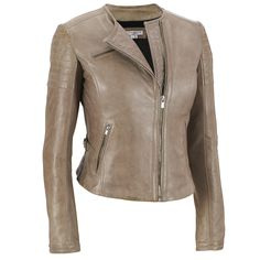 Wilson's Leather LaMarque Collarless Asymmetrical Leather Jacket w/ Zippers $389.99
