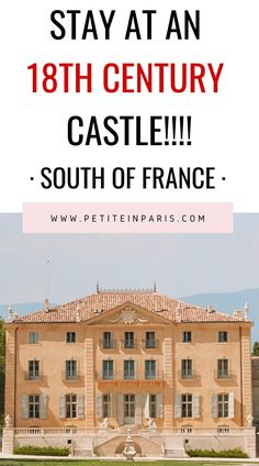 Are you looking for somewhere to travel outside of Paris? Look no further, then this beautiful 18th century castle in the South of France called Fonscolome.   south of France holiday, Where to stay in the south of France, escape to the South of France, Fonscolome castle, the south of France holiday, stay in a castle in France, where to travel outside of Paris, holidays in France, French holidays, Local french guide Europe Travel Tips, European Travel, Travel Advice, Travel Destinations, Provence, Stay In A Castle, South Of France, Best Cities, France Travel