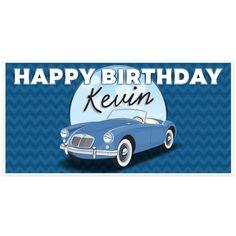 Cars Happy Birthday Banner Classic Car Birthday Banners