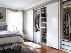 Admire your fashion collection from the comfort of your bed