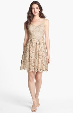Adrianna Papell Lace Fit & Flare Dress (Petite) available at #Nordstrom