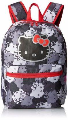 Kids Backpacks - Hello Kitty Black and White Kitty Backpack