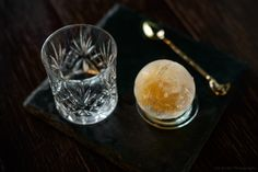 Cocktail in an ice cube