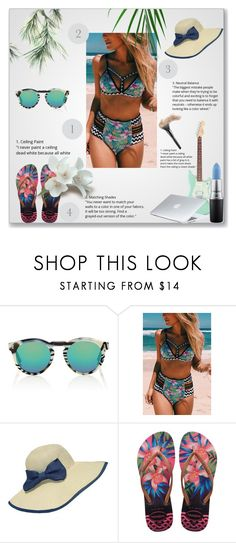 """""""Summer Time"""" by dinaa45 ❤ liked on Polyvore featuring Illesteva, WithChic, Havaianas, MAC Cosmetics and Dyson"""