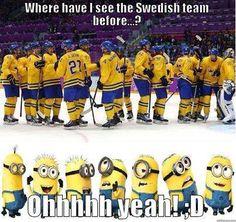 Where have I seen the Swedish team before? #hockey