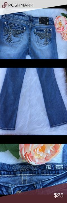 Miss Me Bootcut Jeans 27x31 good used condition Miss Me Bootcut Jeans 27x31 good used condition Miss Me Jeans Boot Cut